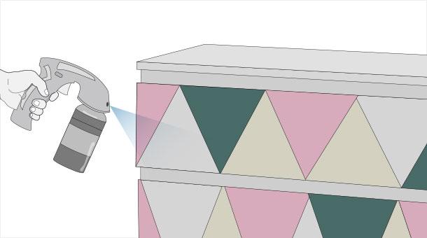 Как нарисовать на комоде геометрические фигуры?